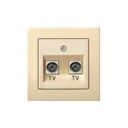 Įleistinis TV: DVB-T ir SAT lizdas