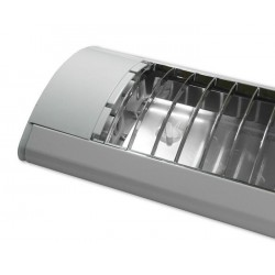 LED Šviestuvas T8/G13, 2x36W, paviršinis, su reflektorium