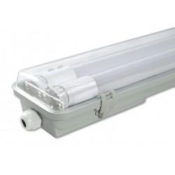 LED Šviestuvas T8/G13, 2x36W, IP65, paviršinis, skaidrus PC gaubtas