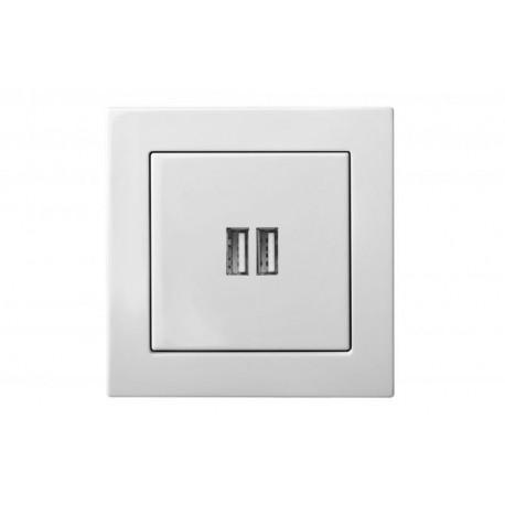 Įleistinis USB- kroviklis, dvivietis, 220V, 50-60Hz, 3,4A