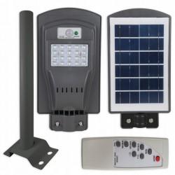 Gatvės šviestuvas 20W su saulės baterija