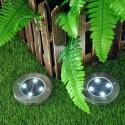 Įsmeigiamas LED šviestuvas su saulės baterija 4xSMD