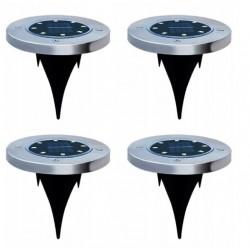Įsmeigiamas LED šviestuvas su saulės baterija 8xSMD