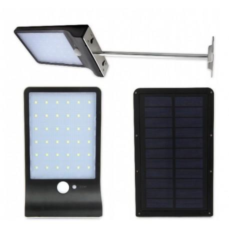 Šviestuvas su saulės baterija ir judesio davikliu 36xSMD+laikiklis