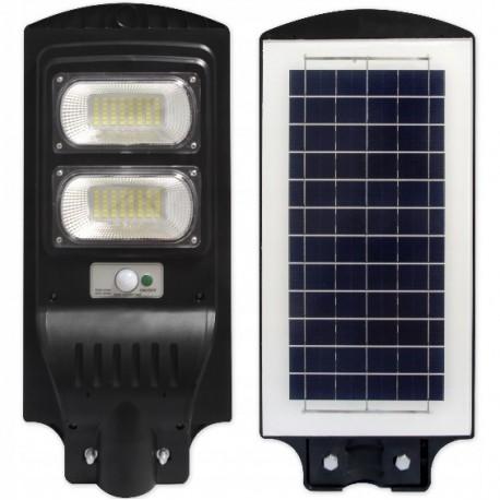 Gatvės šviestuvas 100W su saulės baterija+nuotolinis pultas