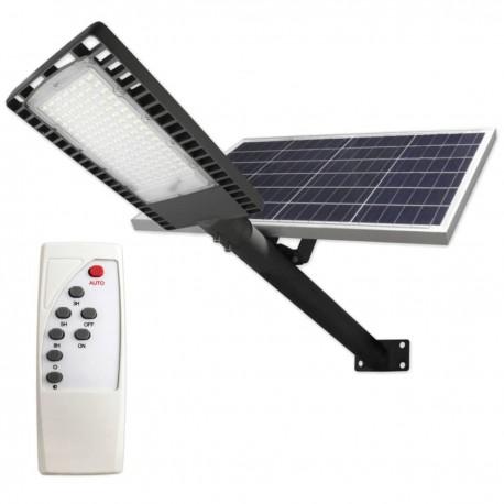 Gatvės šviestuvas 120W su saulės baterija+nuotolinis pultas