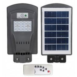 Gatvės šviestuvas 20W su saulės baterija+valdymo pultas