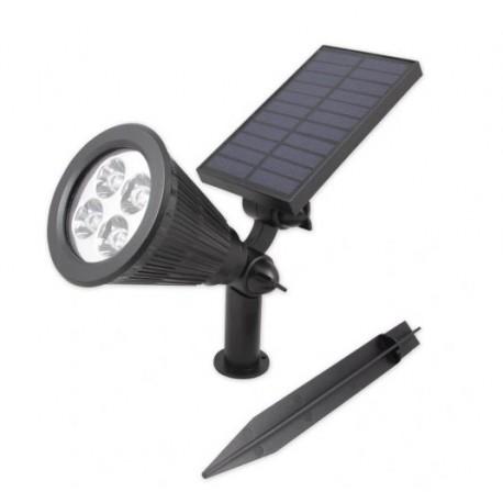 Šviestuvas su saulės baterija ir jutikliu