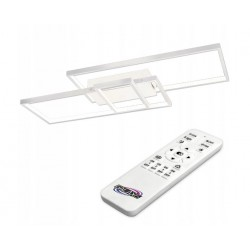 LED lubinis šviestuvas 90W 83x36x8 cm White