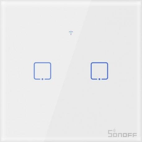 Sonoff T0EU2C-TX 2 kanalų sieninis jungiklis