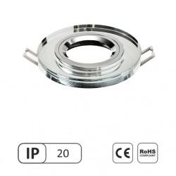 Šviestuvas 50W įleidžiamas skaidrus apvalus stiklinis