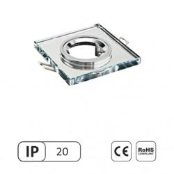 Šviestuvas 50W įleidžiamas skaidrus kvadratinis stiklinis